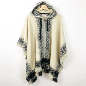 Freshman NWT Hooded Zipper Blanket Poncho L/XL